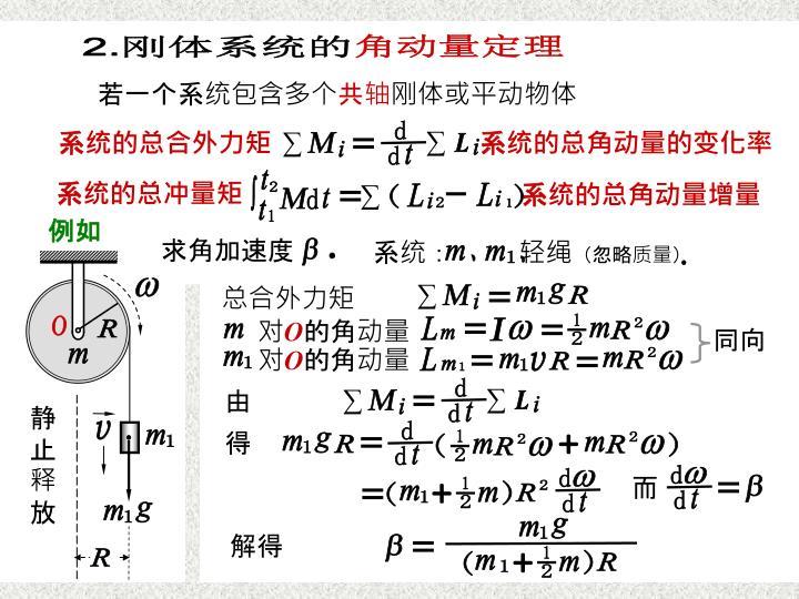 刚体系统的角动量定理