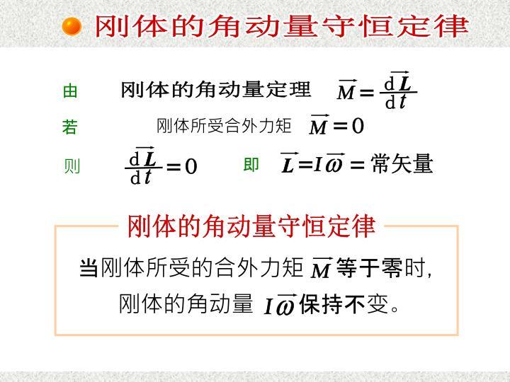 刚体的角动量守恒定律