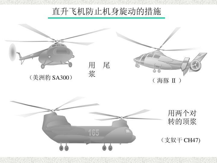 直升飞机防旋措施