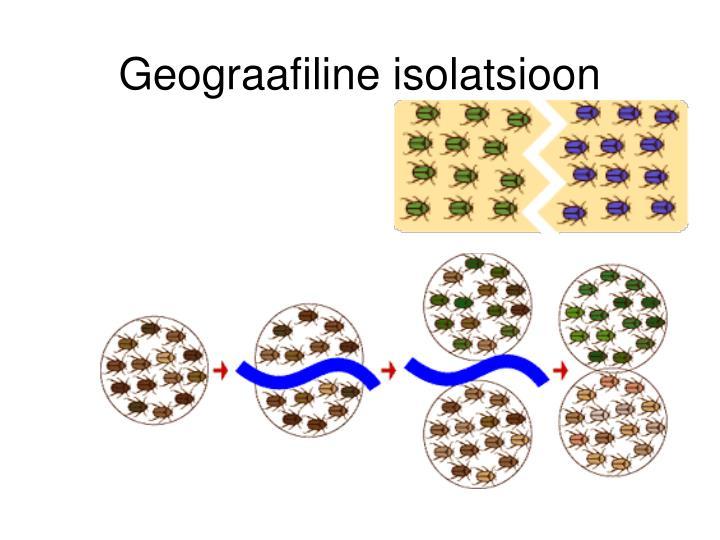 Geograafiline isolatsioon