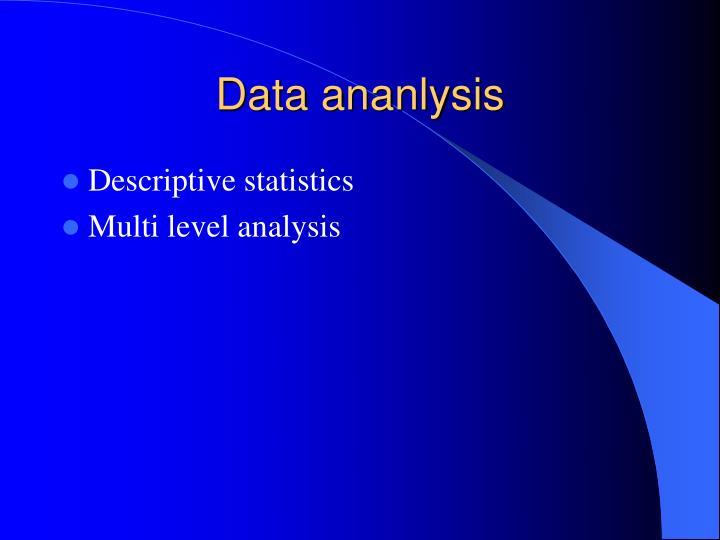 Data ananlysis