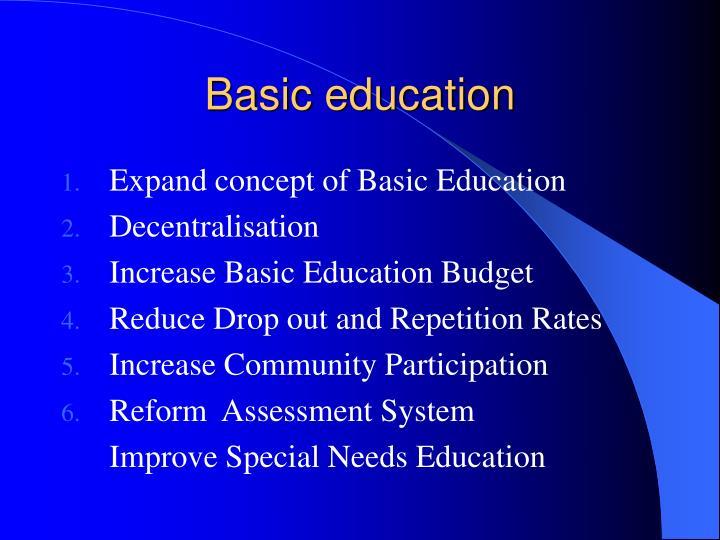 Basic education