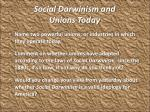social darwinism and unions today