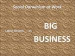 social darwinism at work