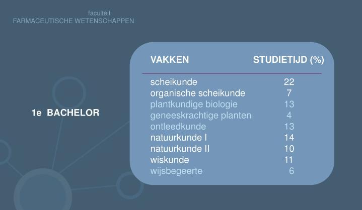 VAKKEN         STUDIETIJD (%)