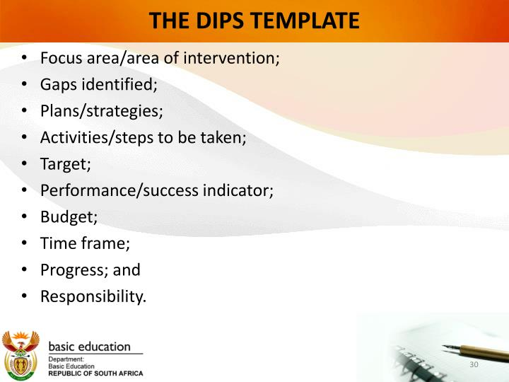 THE DIPS TEMPLATE