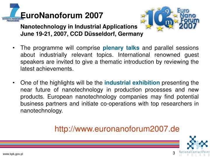 EuroNanoforum 2007