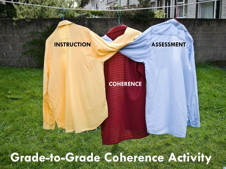 Grade-to-Grade Coherence Activity