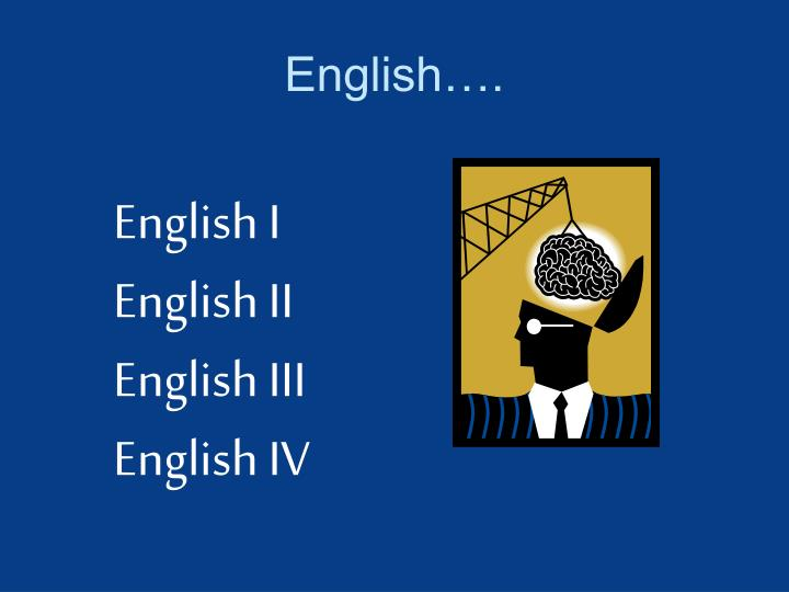English….