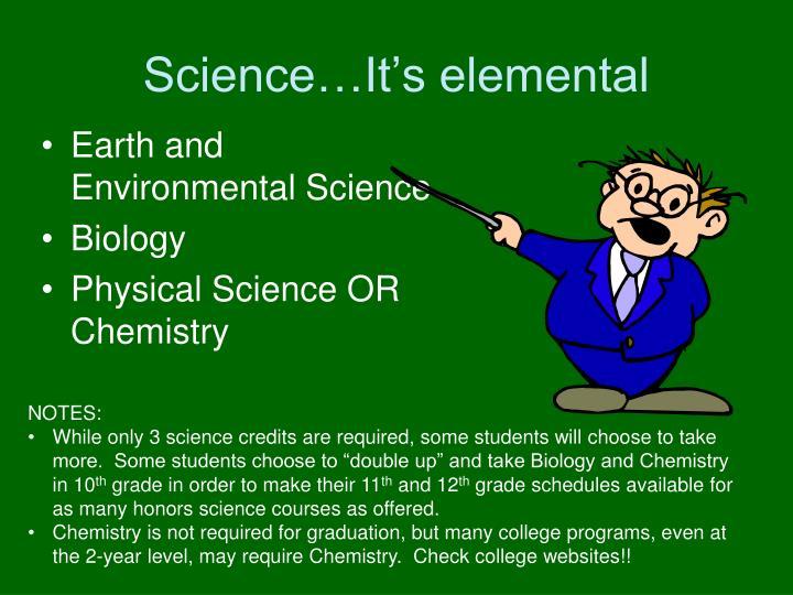 Science…It's elemental