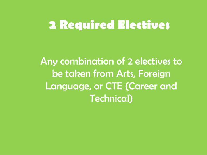 2 Required Electives