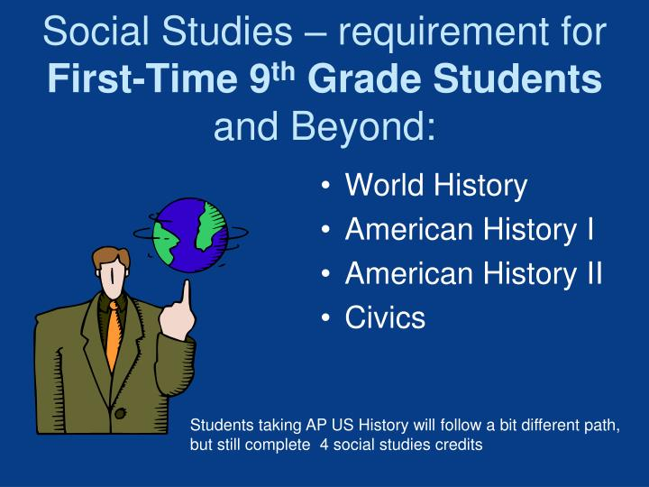 Social Studies – requirement for