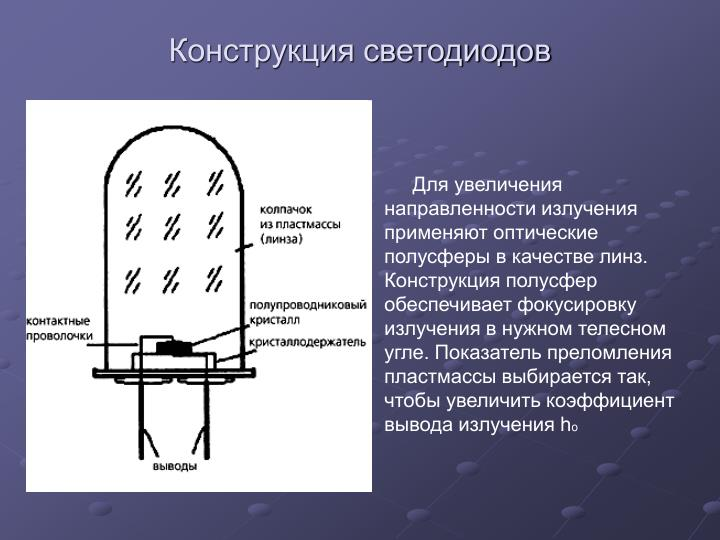 Конструкция светодиодов