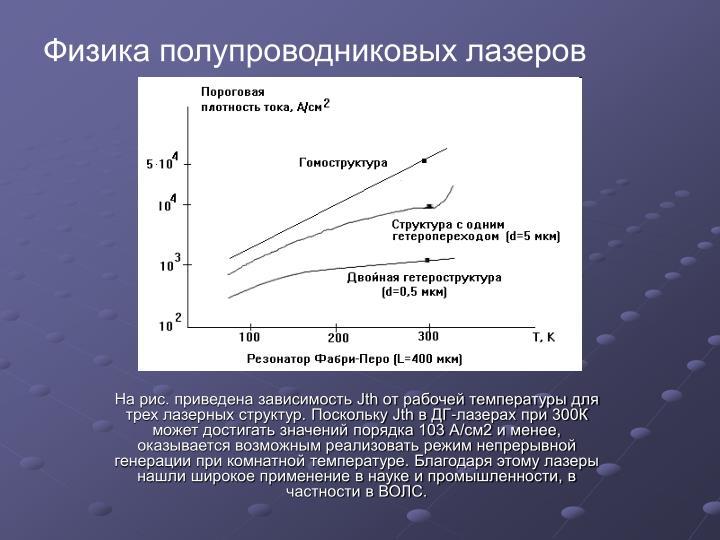 Физика полупроводниковых лазеров