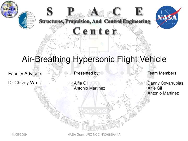 Air breathing hypersonic flight vehicle