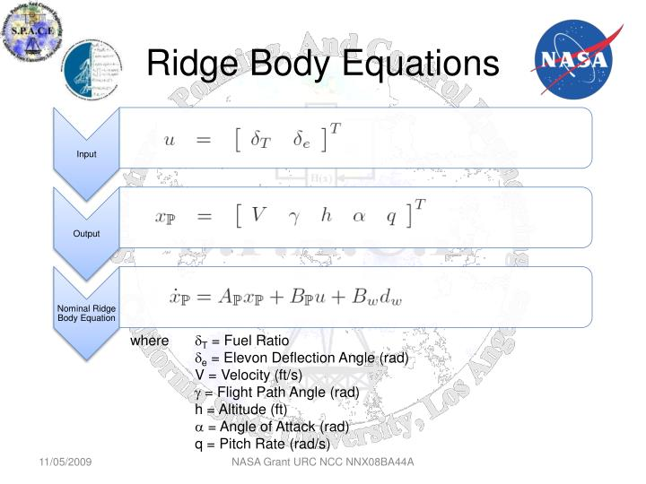Ridge Body Equations