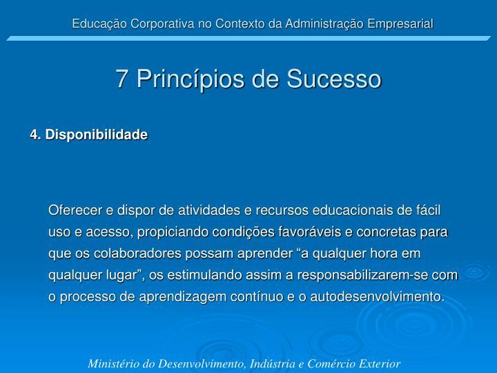 7 Princípios de Sucesso