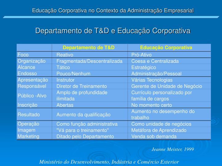 Departamento de T&D