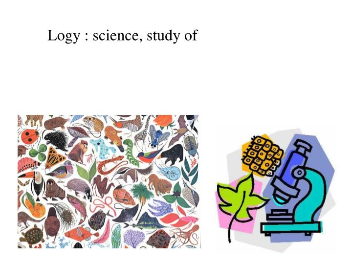 Logy : science, study of