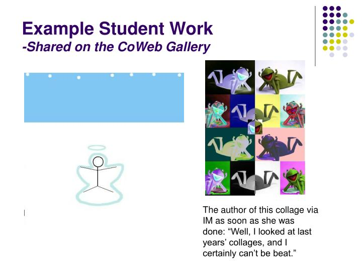 Example Student Work