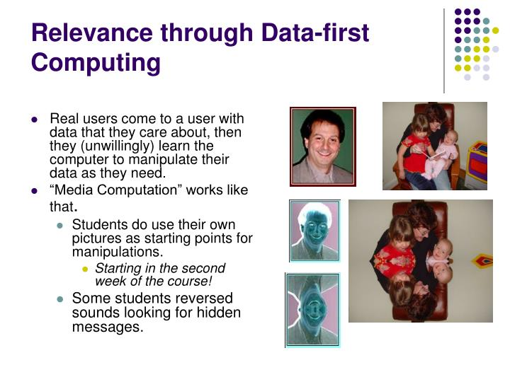 Relevance through Data-first Computing