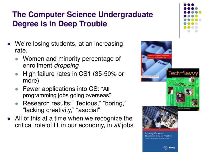 The Computer Science Undergraduate Degree is in Deep Trouble