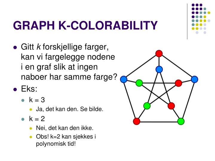 GRAPH K-COLORABILITY