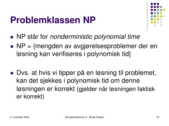 Problemklassen NP