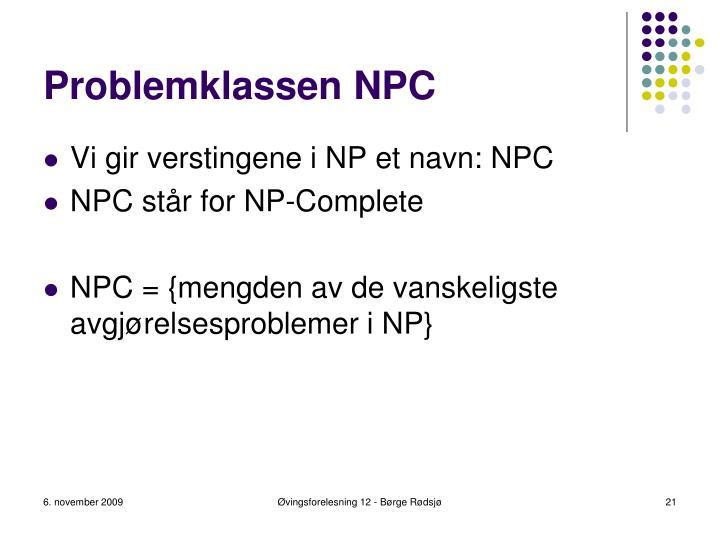 Problemklassen NPC