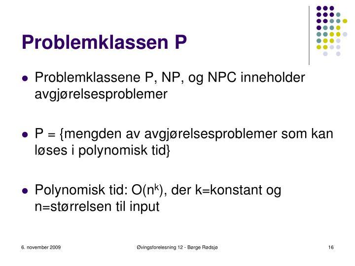 Problemklassen P