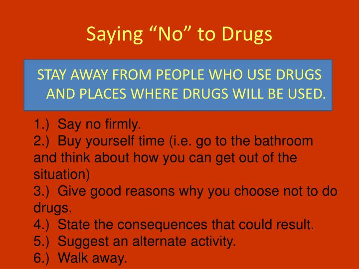 "Saying ""No"" to Drugs"