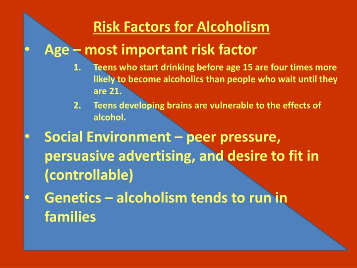 Risk Factors for Alcoholism