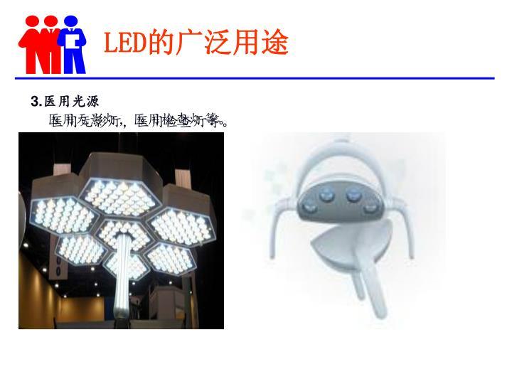 LED的广泛用途