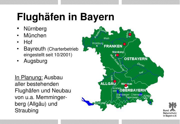 Flughäfen in Bayern