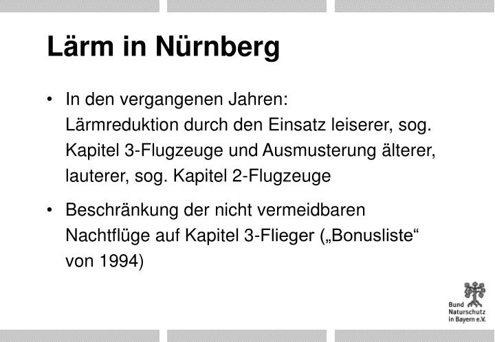 Lärm in Nürnberg