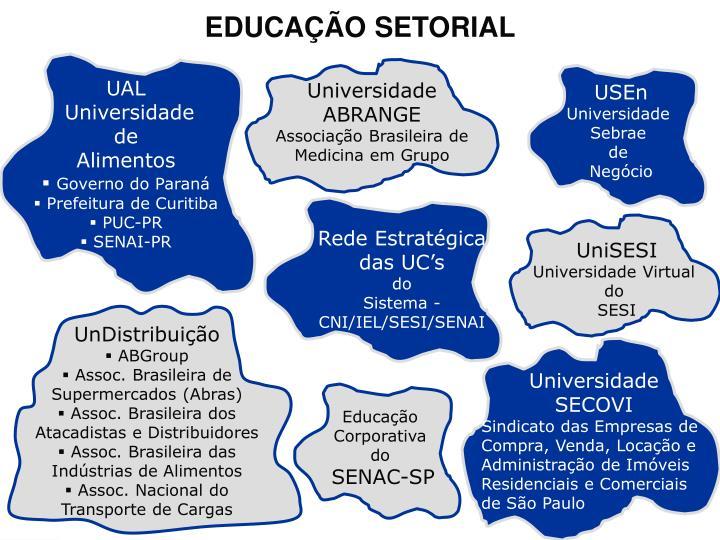 EDUCAÇÃO SETORIAL