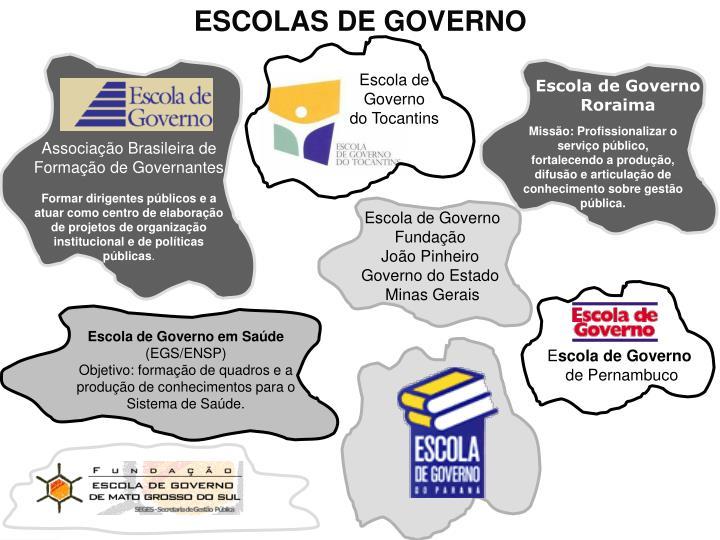 ESCOLAS DE GOVERNO