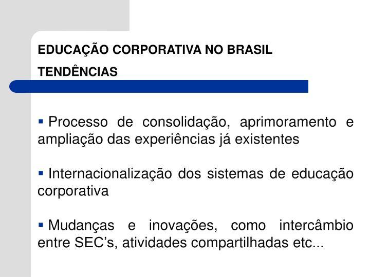 EDUCAÇÃO CORPORATIVA NO BRASIL