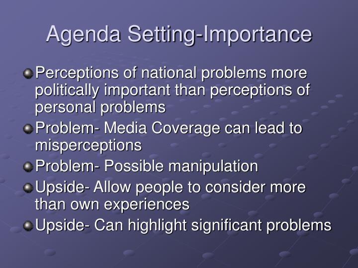 Agenda Setting-Importance