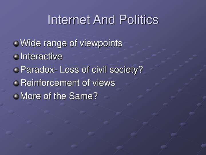 Internet And Politics