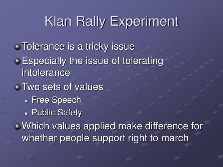 Klan Rally Experiment