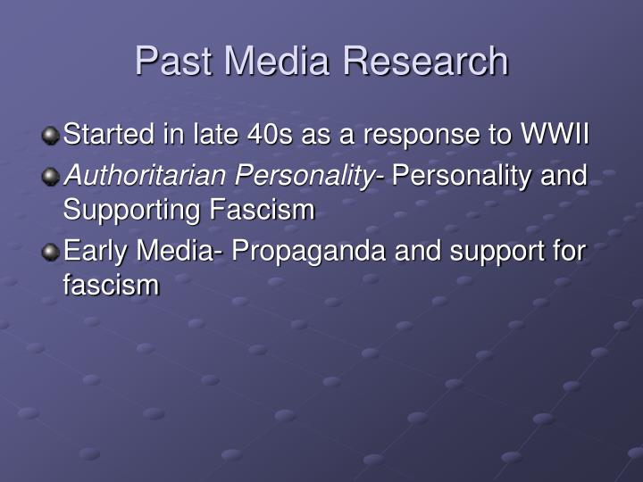 Past Media Research