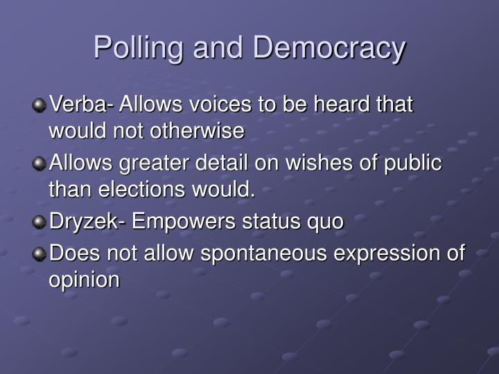 Polling and Democracy