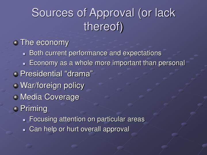 Sources of Approval (or lack thereof)