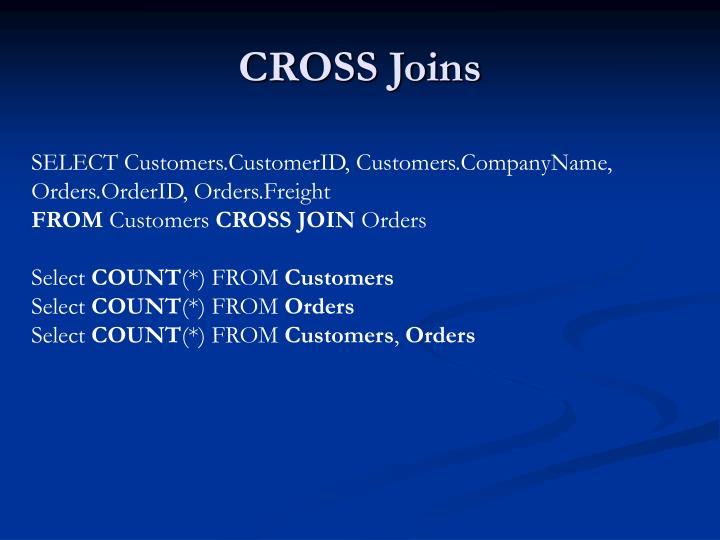 CROSS Joins