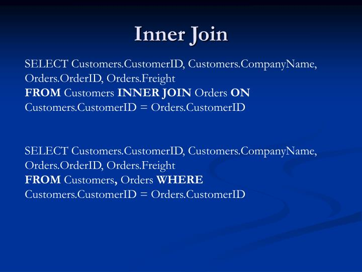 Inner Join