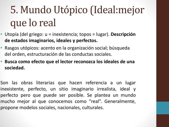5. Mundo Utópico (
