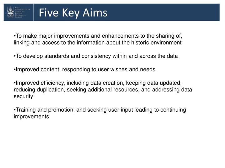 Five Key Aims