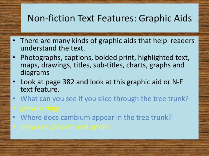 Non-fiction Text Features: Graphic Aids