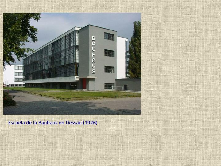 Escuela de la Bauhaus en